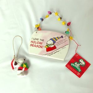 Dept 56 snoopy plaque and snoopy ornament